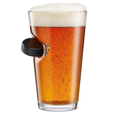 (BenShot Hockey Puck Pint Glass)