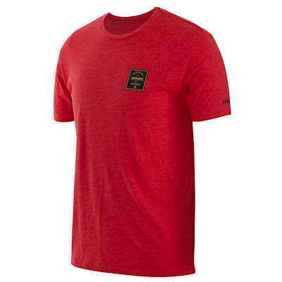 (Bauer Vapor Square Short Sleeve Crew Tee Shirt - Adult)