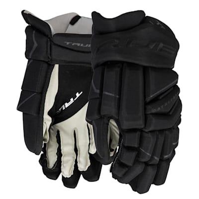 (TRUE Catalyst Black Hockey Gloves - Junior)