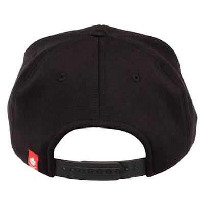 (CCM Blackout Flat Brim Snapback Hat - Adult)