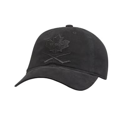 (CCM Blackout Leaf Slouch Adjustable Hat - Adult)