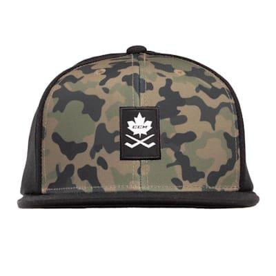 (CCM Camo Flat Brim Snapback Hat - Adult)