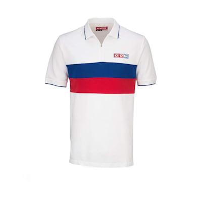(CCM Classic Vintage Zip Polo Shirt - Adult)