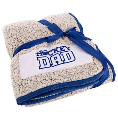 (Logo Brands Hockey Dad Frosty Fleece Blanket)