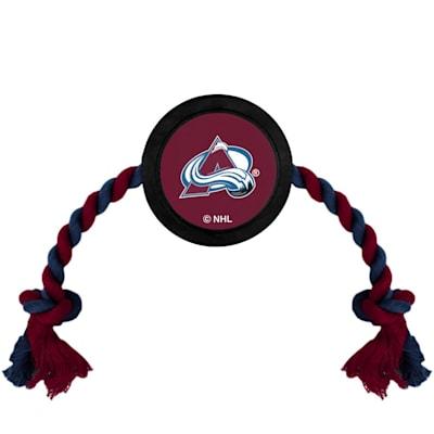 (Hockey Puck Pet Toy - Colorado Avalanche)