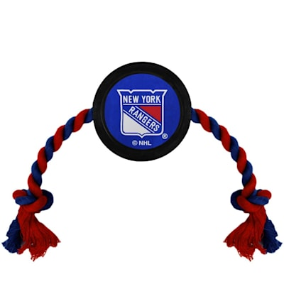 (Hockey Puck Pet Toy - NY Rangers)