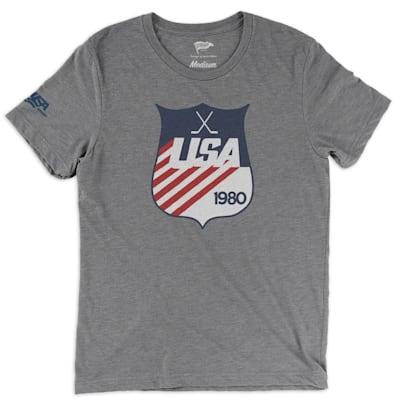 (Streaker Sports 1980 USA Hockey Shield Tee - Adult)