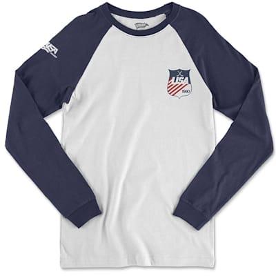 (Streaker Sports 1980 USA Hockey Long Sleeve Raglan Shirt - Adult)