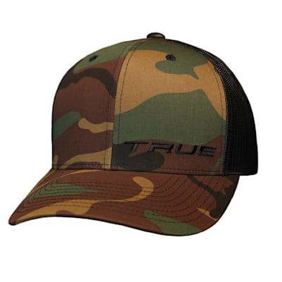 (TRUE Camo Trucker Snapback Hat - Adult)