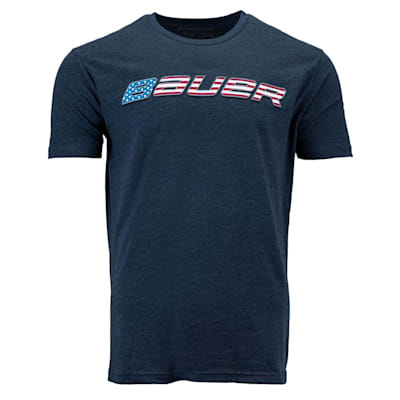 (Bauer Flag Graphic Short Sleeve Tee Shirt - Adult)