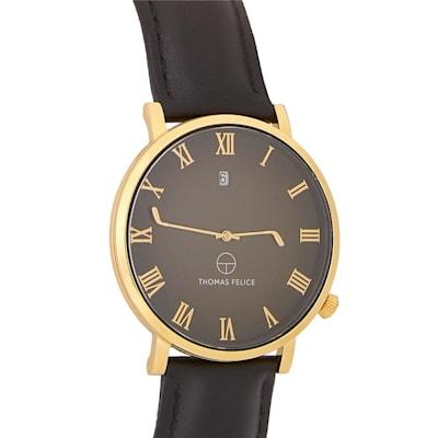 (Thomas Felice Gloves Off Watch - Black/Gold)
