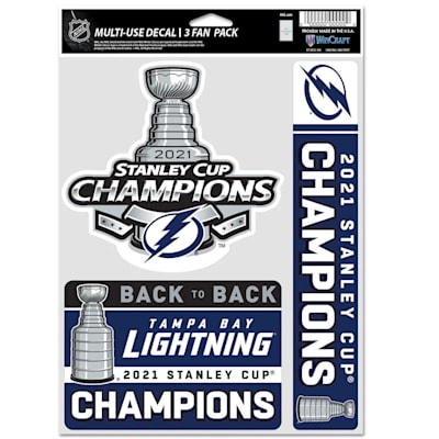 (Wincraft 2021 Stanley Cup Champion Fan Decal Pack - Tampa Bay Lightning)
