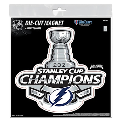 (Wincraft 2021 Stanley Cup Champion Die Cut Magnet - Tampa Bay Lightning)
