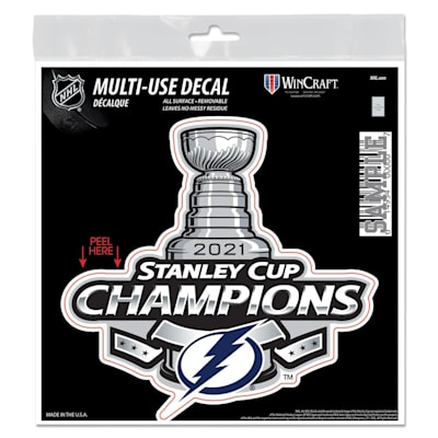 (Wincraft 2021 Stanley Cup Champion Multi-Use Decal - Tampa Bay Lightning)