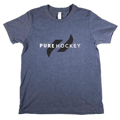 (Pure Hockey Classic Tee 2.0 - Navy - Youth)