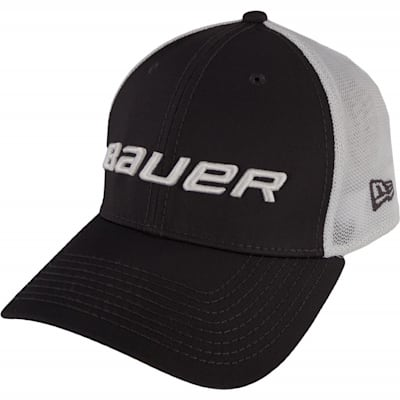 Black (Bauer 39THIRTY Stretch Mesh Fitted Hat - Adult)