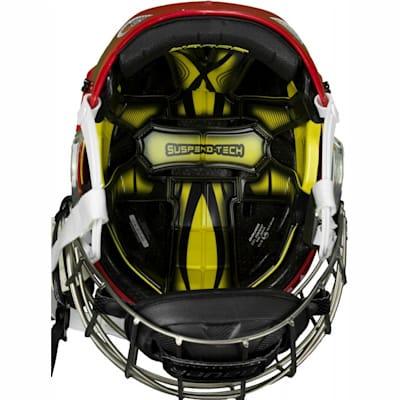 Suspend-Liner Prevents Dangerous Head Movements (Bauer RE-AKT Hockey Helmet Combo)