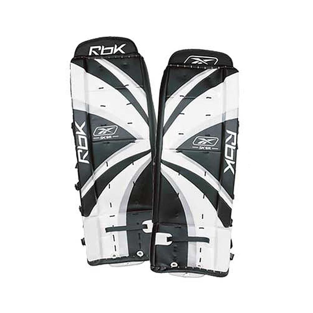 6f5a9ce35bc Leg pads front (Reebok 5K Goalie Leg Pads - Junior)