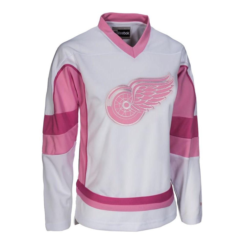 promo code a8989 e4ff5 Reebok Detroit Red Wings White Fashion Jersey - Girls