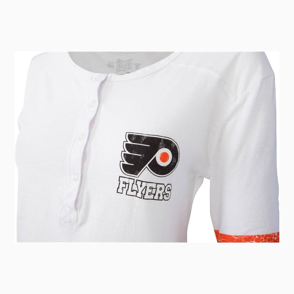 best website cdf0b 245d8 Retro Brand Philadelphia Flyers Henley Long Sleeve Shirt - Womens