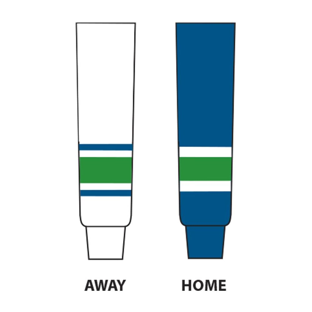 White//Navy//Green Adult//32-Inch DoGree Hockey Vancouver Canucks Knit Hockey Socks