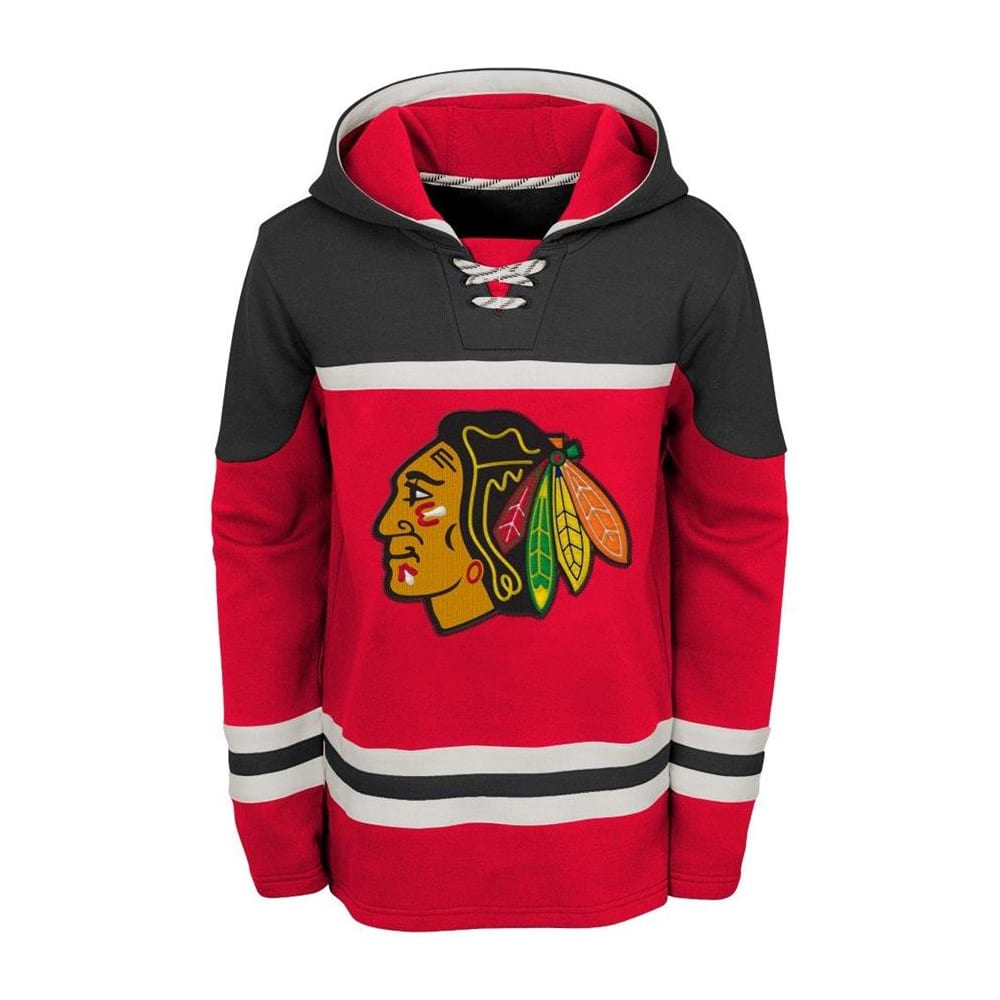 low priced 0b241 0d540 Adidas Chicago Blackhawks Asset Pullover Hoodie - Youth