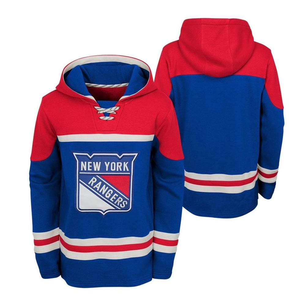 best website 4b64a 81f9a Adidas New York Rangers Asset Pullover Hoodie - Youth