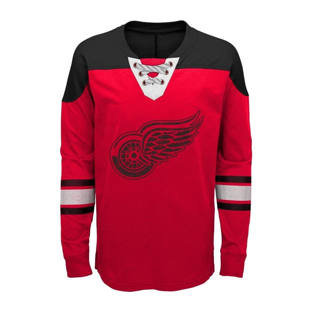brand new 46b40 6d3d8 Adidas Detroit Red Wings Perennial Long Sleeve Tee Shirt - Youth