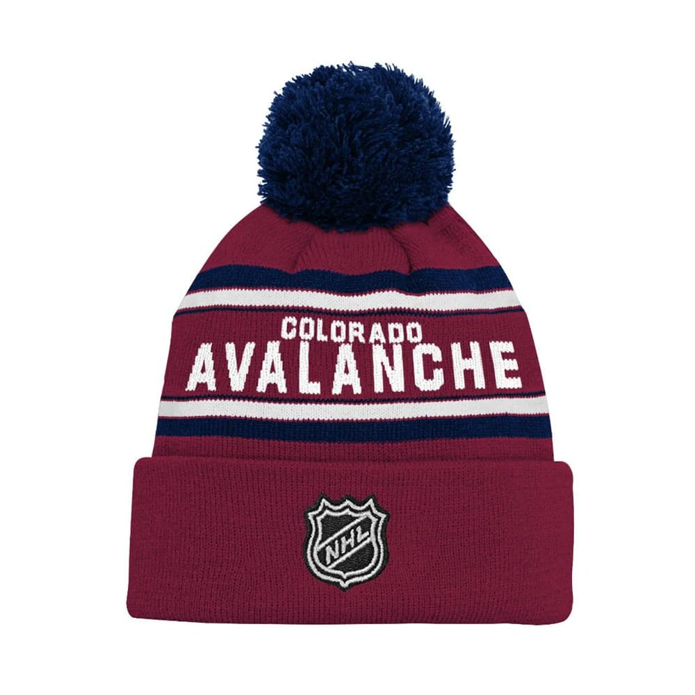 best loved 21807 1d3dd Adidas Colorado Avalanche Youth Pom Knit Hat