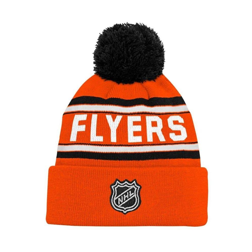 0a101756 Adidas Philadelphia Flyers Youth Pom Knit Hat | Pure Hockey Equipment