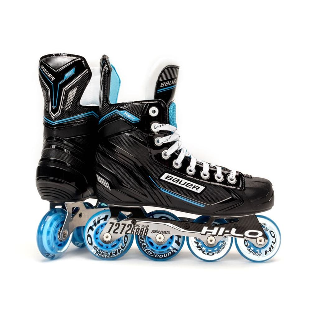 Roller Hockey Wheels HILO SET 72mm 80mm Soft Blue Inline Skate Abec 9 Bearings