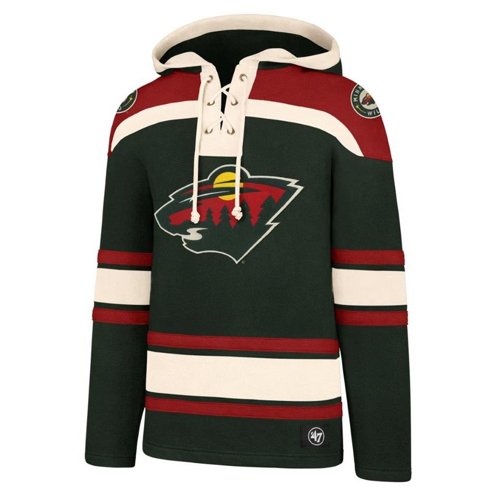 buy popular 9eb0d b5cae 47 Brand Lacer Pullover Hoodie - Minnesota Wild - Adult