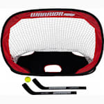 Warrior Pop-Up Mini Hockey Net w/ Sticks & Ball