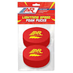 A&R Lightning Speed Foam Hockey Puck - 2 Pack