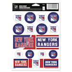 Wincraft NHL Wincraft Vinyl Sticker Sheet - New York Rangers