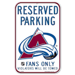 Wincraft NHL Reserved Parking Sign - Colorado Avalanche
