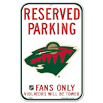 Wincraft NHL Reserved Parking Sign - Minnesota Wild