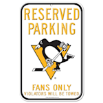 Wincraft NHL Reserved Parking Sign - Pittsburgh Penguins