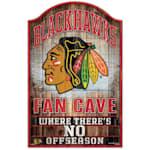 "Wincraft NHL Wood Sign - 11""  x 17""  - Chicago Blackhawks"