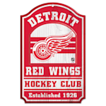 """Wincraft NHL Wood Sign - 11"""" x 17"""" - Detroit Red Wings"""