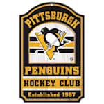 "Wincraft NHL Wood Sign - 11""  x 17"" - Pittsburgh Penguins"