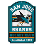 "Wincraft NHL Wood Sign - 11""  x 17"" - San Jose Sharks"