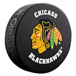 InGlasco NHL Basic Logo Puck - Chicago Blackhawks