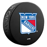 InGlasco NHL Basic Logo Puck - New York Rangers