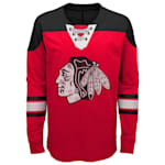 Adidas Chicago Blackhawks Perennial Long Sleeve Tee Shirt - Youth