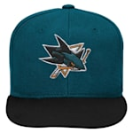 Adidas San Jose Sharks Two Tone Youth Flat Brim Snapback Cap