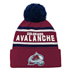 Adidas Colorado Avalanche Youth Pom Knit Hat