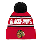 Adidas Chicago Blackhawks Youth Pom Knit Hat