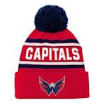 Adidas Washington Capitals Youth Pom Knit Hat