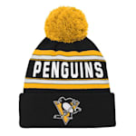 Adidas Pittsburgh Penguins Youth Pom Knit Hat